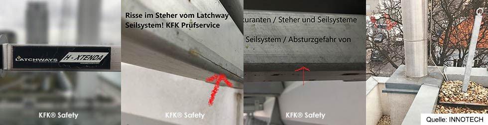 KFK bundesweit Prüfservice Latchways, Bornack Latchway Seilsysteme