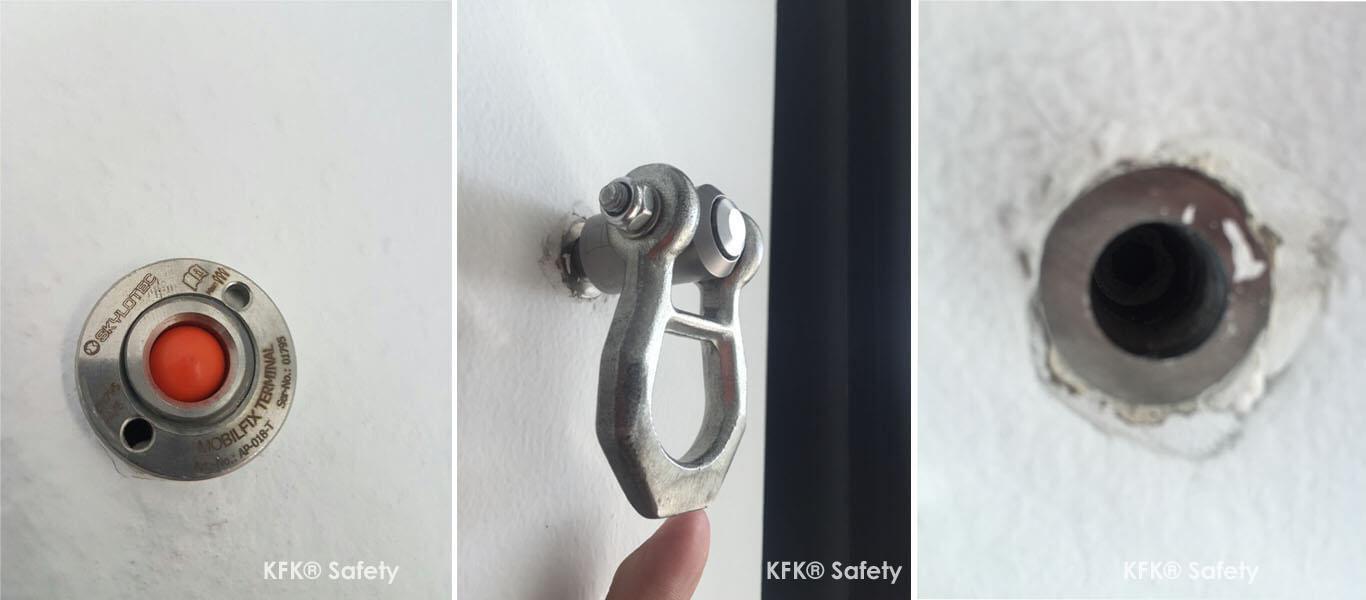 Prüfungen von Mobil Fix Anschlagpunkten von Skylotec und ABS Safety Einzelanschlagpunkten ist eine sehr wichtige Prüfaufgabe